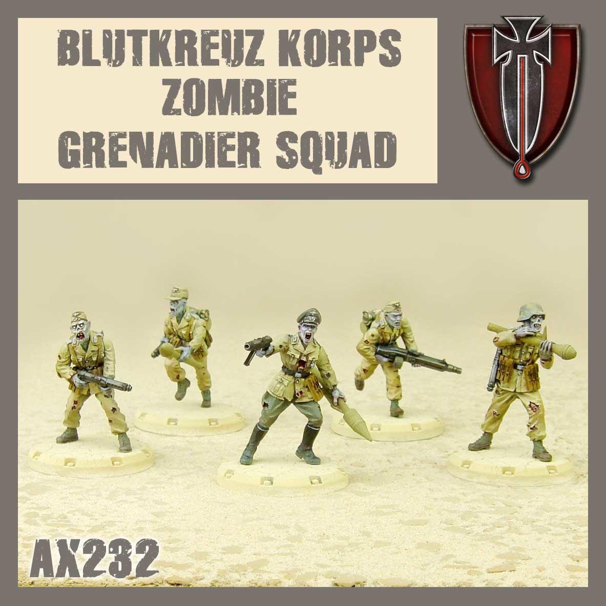 DUST USA DUST DROP-SHIP: Blutkreuz Korps Zombie Grenadier Squad