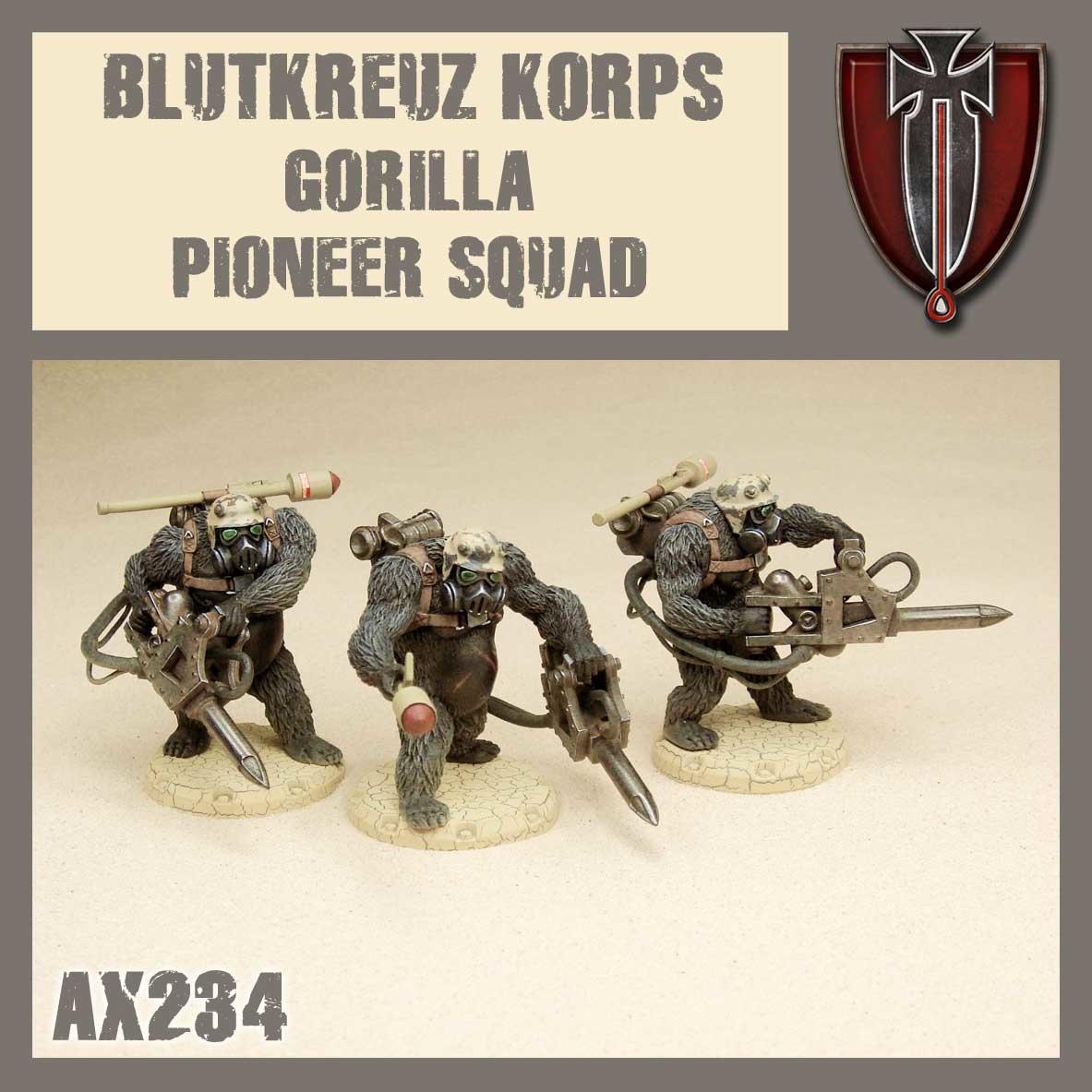 DUST USA DUST DROP-SHIP: Blutkreuz Korps Gorilla Pioneer Squad