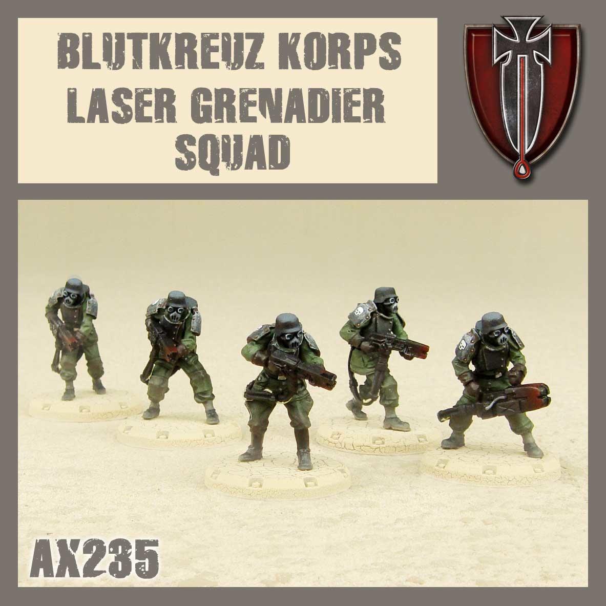 DUST USA DUST DROP-SHIP: Blutkreuz Laser Grenadier Squad