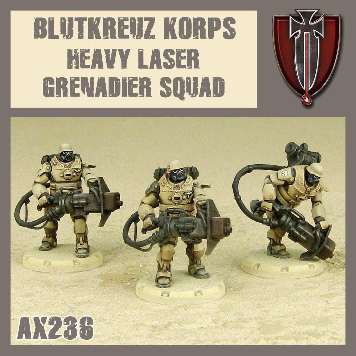 DUST USA DUST DROP-SHIP: Blutkreuz Heavy Laser Grenadier Squad