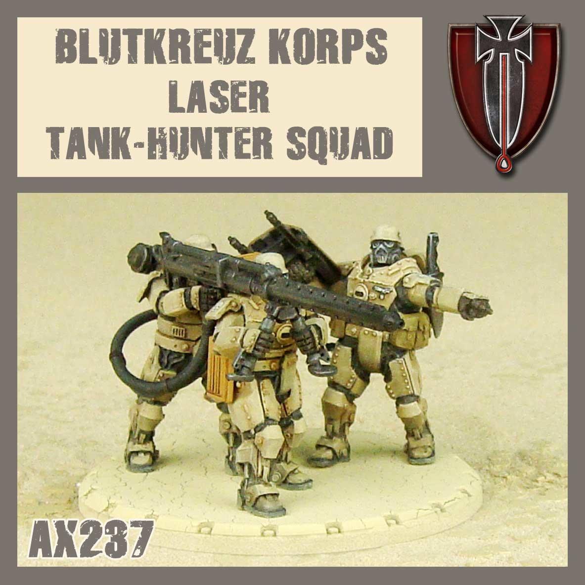 DUST USA DUST DROP-SHIP: Blutkreuz Laser Tank Hunter Squad