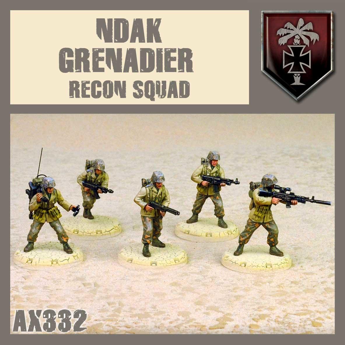 DUST USA DUST DROP-SHIP: NDAK Recon Squad (Desert Scorpions)
