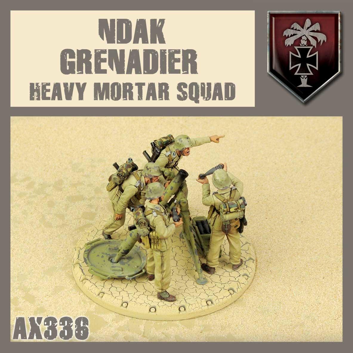 DUST USA DUST DROP-SHIP: NDAK Mortar Squad (Sand Storm)