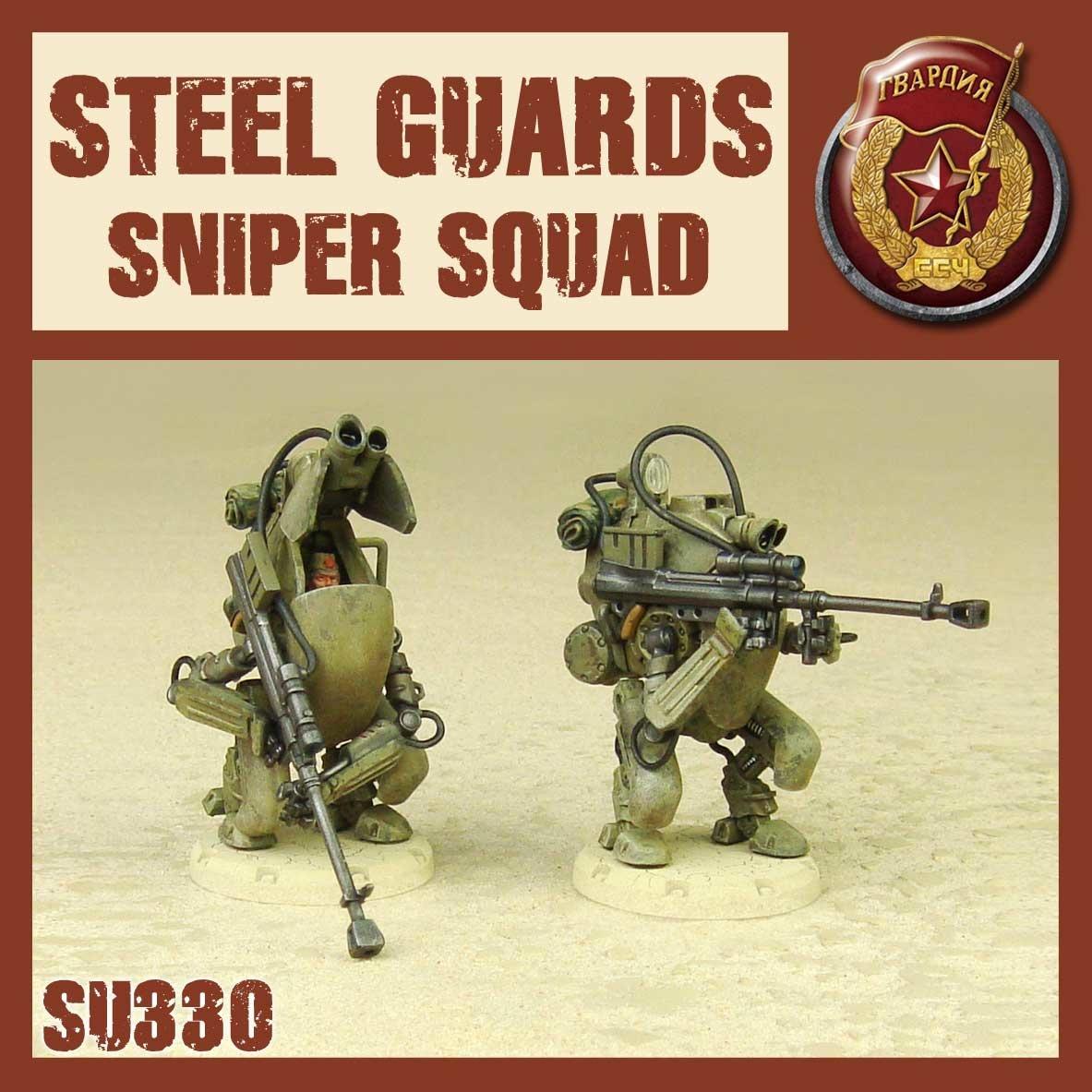DUST USA DUST DROP-SHIP: Steel Guard Sniper Squad (Steel Death)