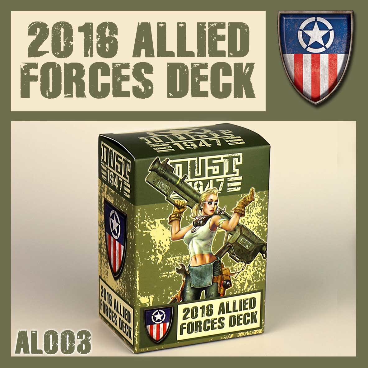 DUST USA DUST DROP-SHIP: Dust 1947 Allies Card Pack