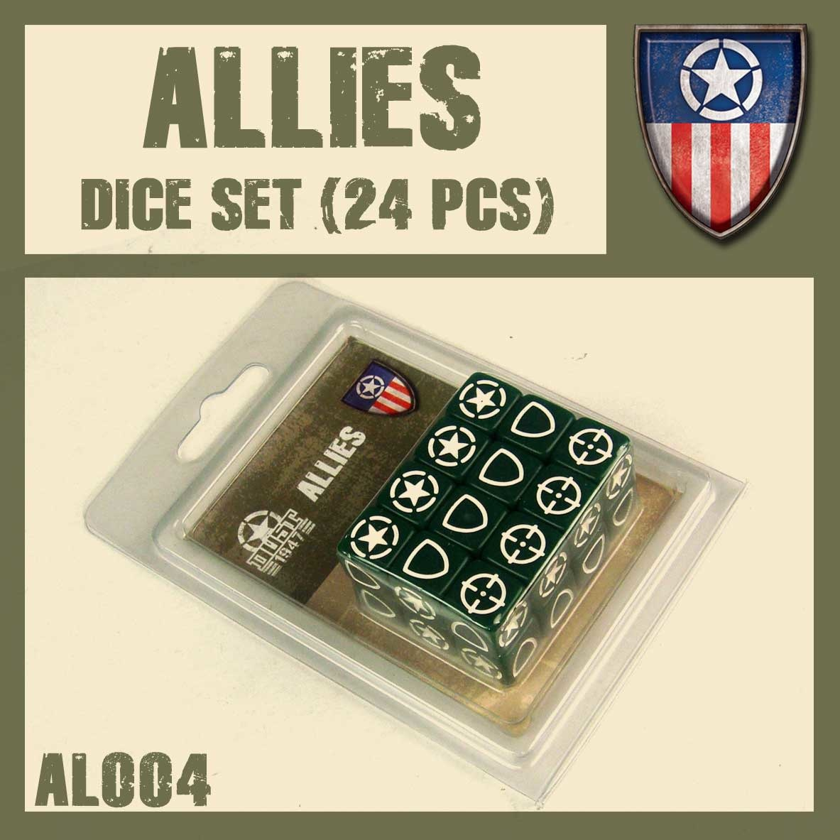 DUST USA DUST DROP-SHIP: Allies Dice Set