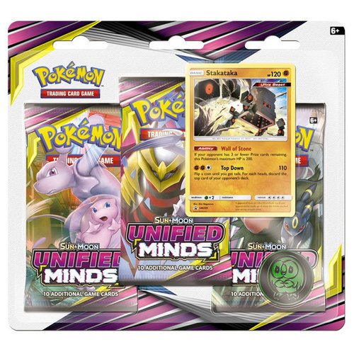 Pokemon USA POKEMON: SUN & MOON 11: UNIFIED MINDS - 3 BOOSTER BLISTER