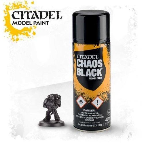 Games Workshop CITADEL (SPRAY): CHAOS BLACK