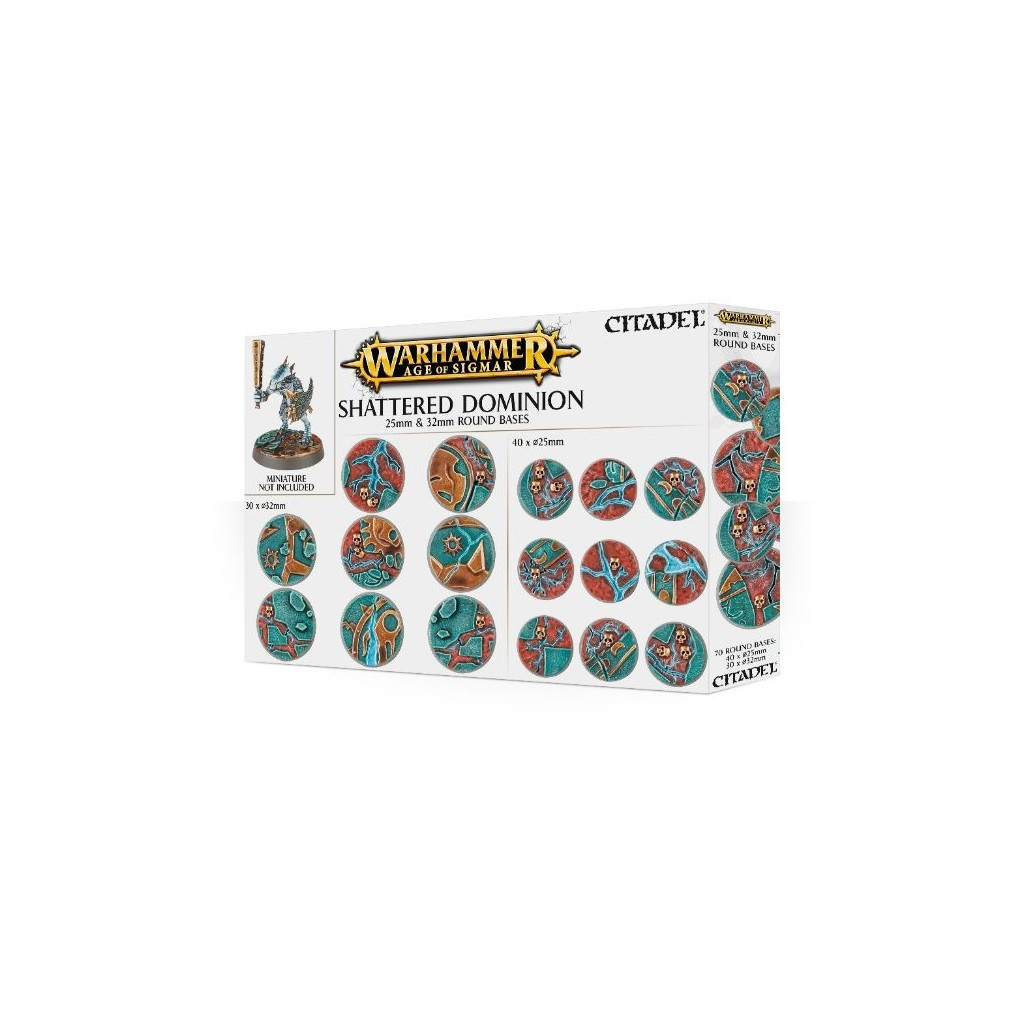 Games Workshop AoS SHATTERED DOMINION: 25 & 32MM BASES