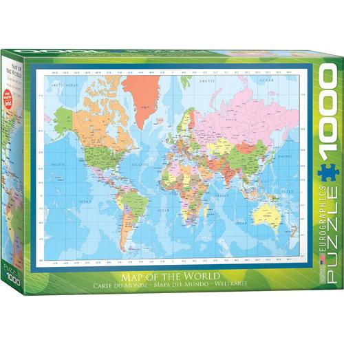 EUROGRAPHICS EG1000 MAP OF THE WORLD 1271