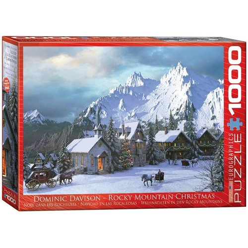 EUROGRAPHICS EG1000 ROCKY MOUNTAIN CHRISTMAS