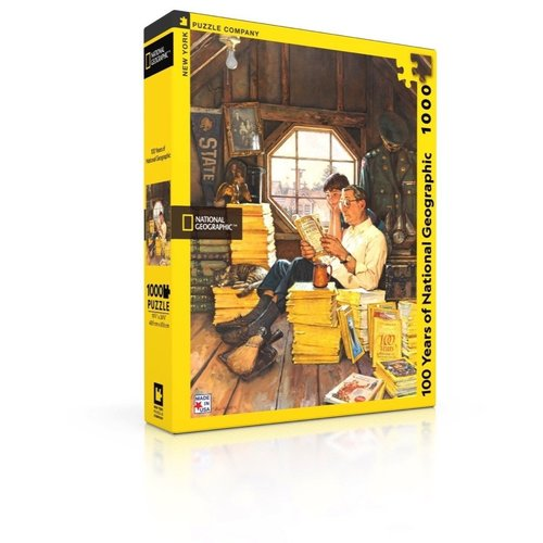 NEW YORK PUZZLE COMPANY NY1000 100 YEARS OF NATIONAL GEOGRAPHIC