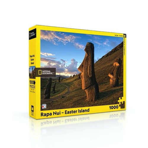 NEW YORK PUZZLE COMPANY NY1000 NATIONAL GEOGRAPHIC RAPA NUI EASTER ISLAND