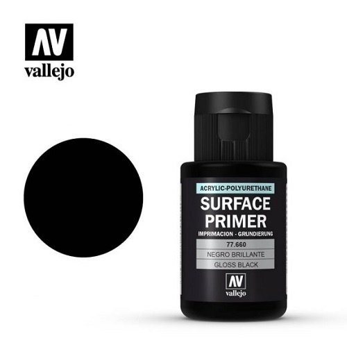 Acrylicos Vallejo, S.L. METAL COLOR: GLOSS BLACK PRIMER