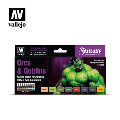 Acrylicos Vallejo, S.L. GAME COLOR SET: ORCS & GOBLINS (8)