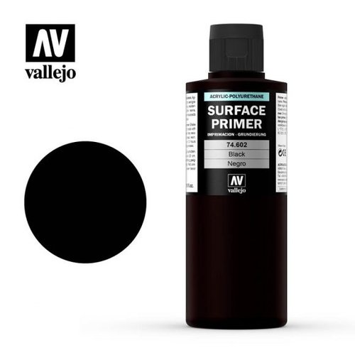 Acrylicos Vallejo, S.L. AUXILIARY: BLACK PRIMER (200ml)