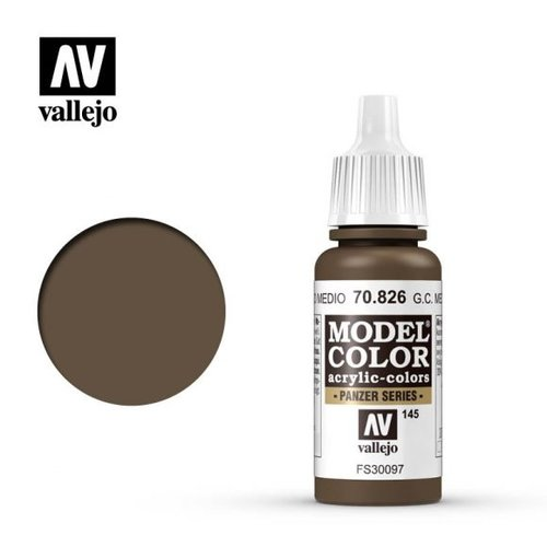 Acrylicos Vallejo, S.L. 145 GERMAN CAMOUFLAGE MEDIUM BROWN