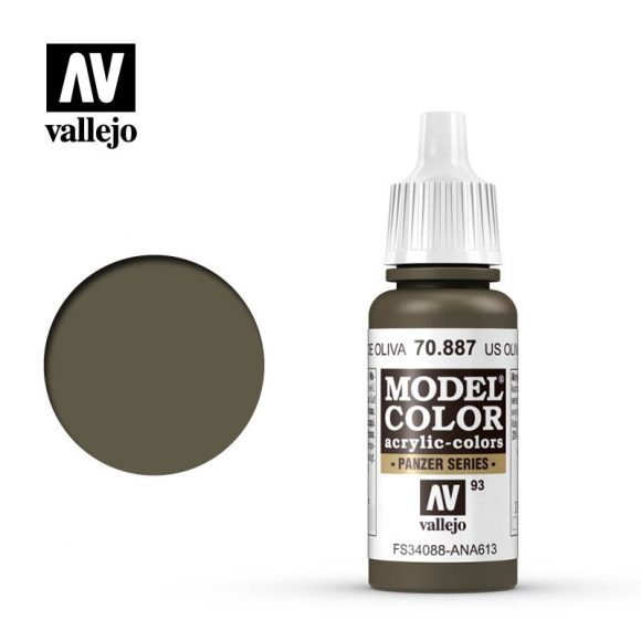 Acrylicos Vallejo, S.L. 093 US OLIVE DRAB