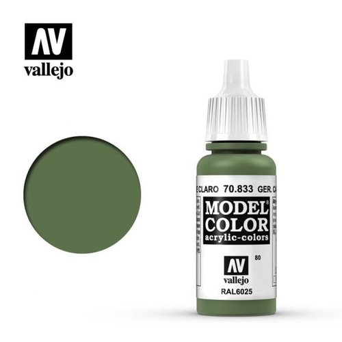 Acrylicos Vallejo, S.L. 080 GERMAN CAMOUFLAGE LIGHT GREEN