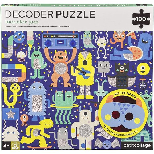 Petit Collage PC100 DECODER PUZZLE - MONSTER JAM