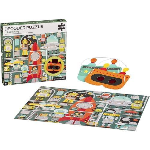 Petit Collage PC100 DECODER PUZZLE - ROBOT FACTORY