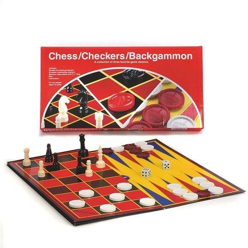 Pressman CHECKERS/CHESS/BACKGAMMON