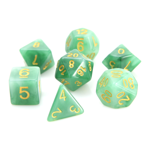 Die Hard Dice JADE DICE SET 7 JADE