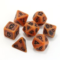 GOLEM DICE SET 7 PUMPKIN