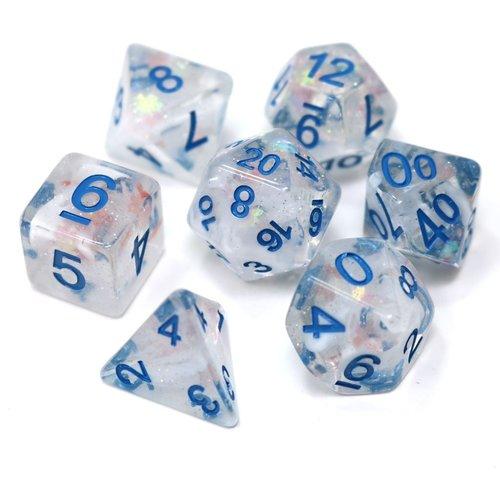 Die Hard Dice POLYMER SET 7 SNOWDRIFT BLUE