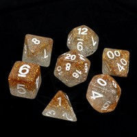 POLYMER DICE SET 7 CHRISTMAS STRING