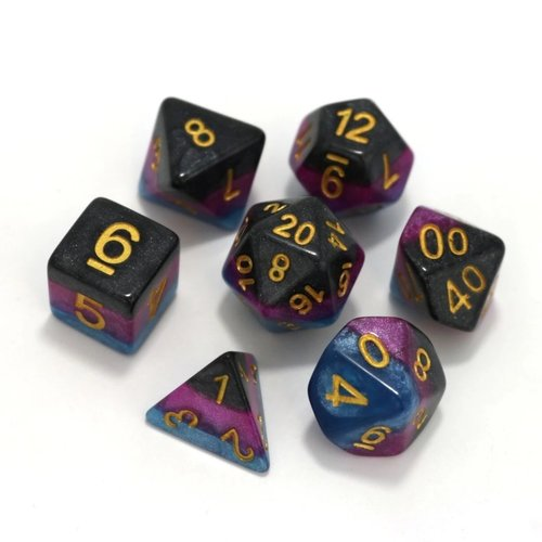 Die Hard Dice DICE SET 7 OPAQUE LAYER VENOM