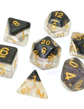 Die Hard Dice POLYMER DICE SET 7 ONYX SNOW