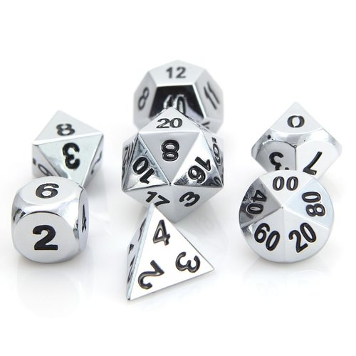 Die Hard Dice CLASSIC DICE SET 7 SHINY SILVER