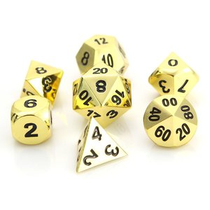 Die Hard Dice CLASSIC DICE SET 7 SHINY GOLD