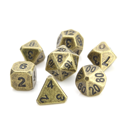 Die Hard Dice FORGE DICE SET 7 ANCIENT GOLD