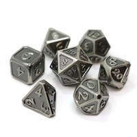 MYTHICA DICE SET 7 WORN SILVER