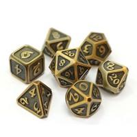 MYTHICA DICE SET 7 WORN GOLD
