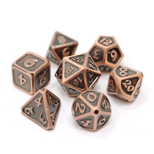Die Hard Dice MYTHICA DICE SET 7 WORN COPPER