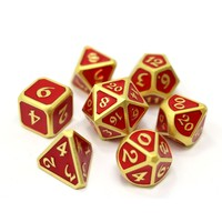 MYTHICA DICE SET 7 SATIN RUBY GOLD