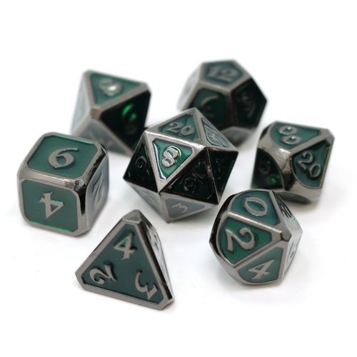 Die Hard Dice MYTHICA DICE SET 7 EMERALD SINISTER