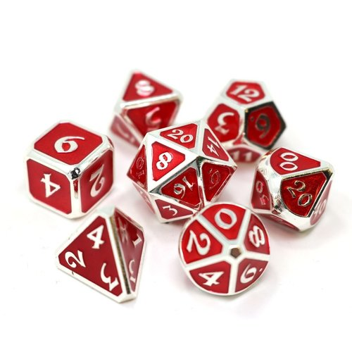 Die Hard Dice MYTHICA DICE SET 7 RUBY PLAT