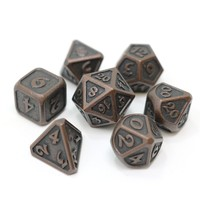 MYTHICA DICE SET 7 DARK COPPER