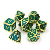 MYTHICA DICE SET 7 AQUA GOLD