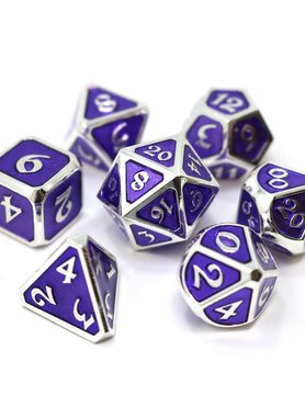 Die Hard Dice MYTHICA DICE SET 7 AMETHYST PLATINUM