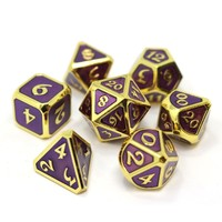 MYTHICA DICE SET 7 AMETHYST GOLD