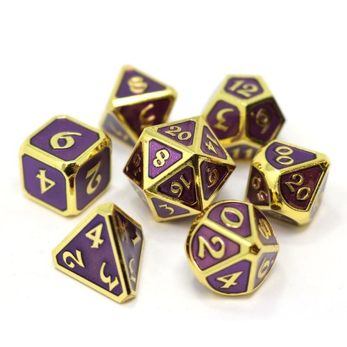 Die Hard Dice MYTHICA DICE SET 7 AMETHYST GOLD