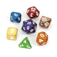 FORGE DICE SET 7 FROSTED RAINBOW MIX
