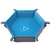 DICE TRAY: TEAL HEXAGON - FOLDING