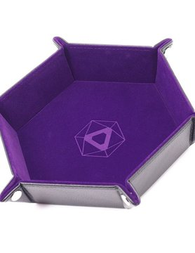 Die Hard Dice DICE TRAY: PURPLE HEXAGON - FOLDING