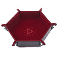DICE TRAY: RED HEXAGON - FOLDING